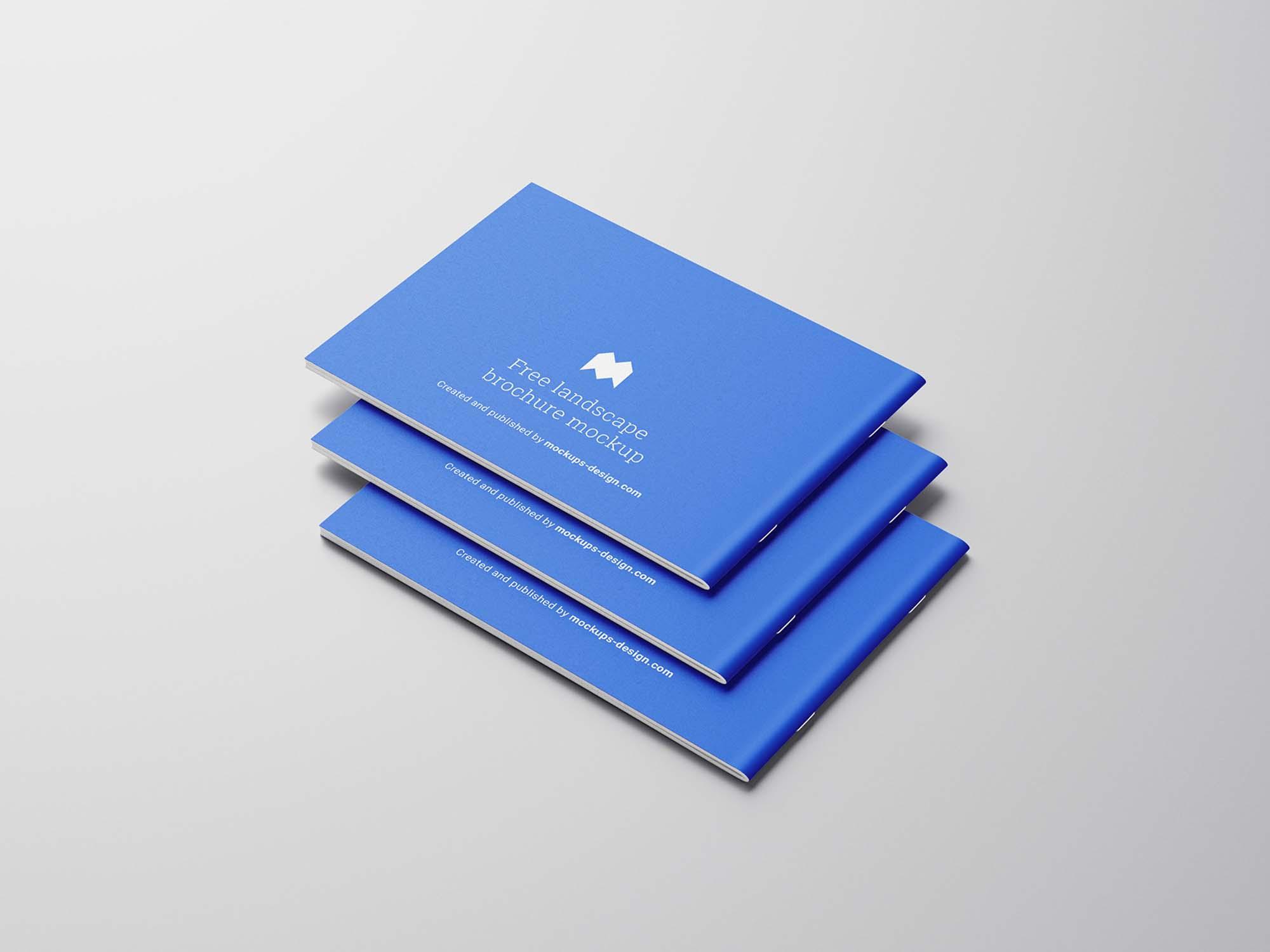 Landscape Brochure Mockup Stack
