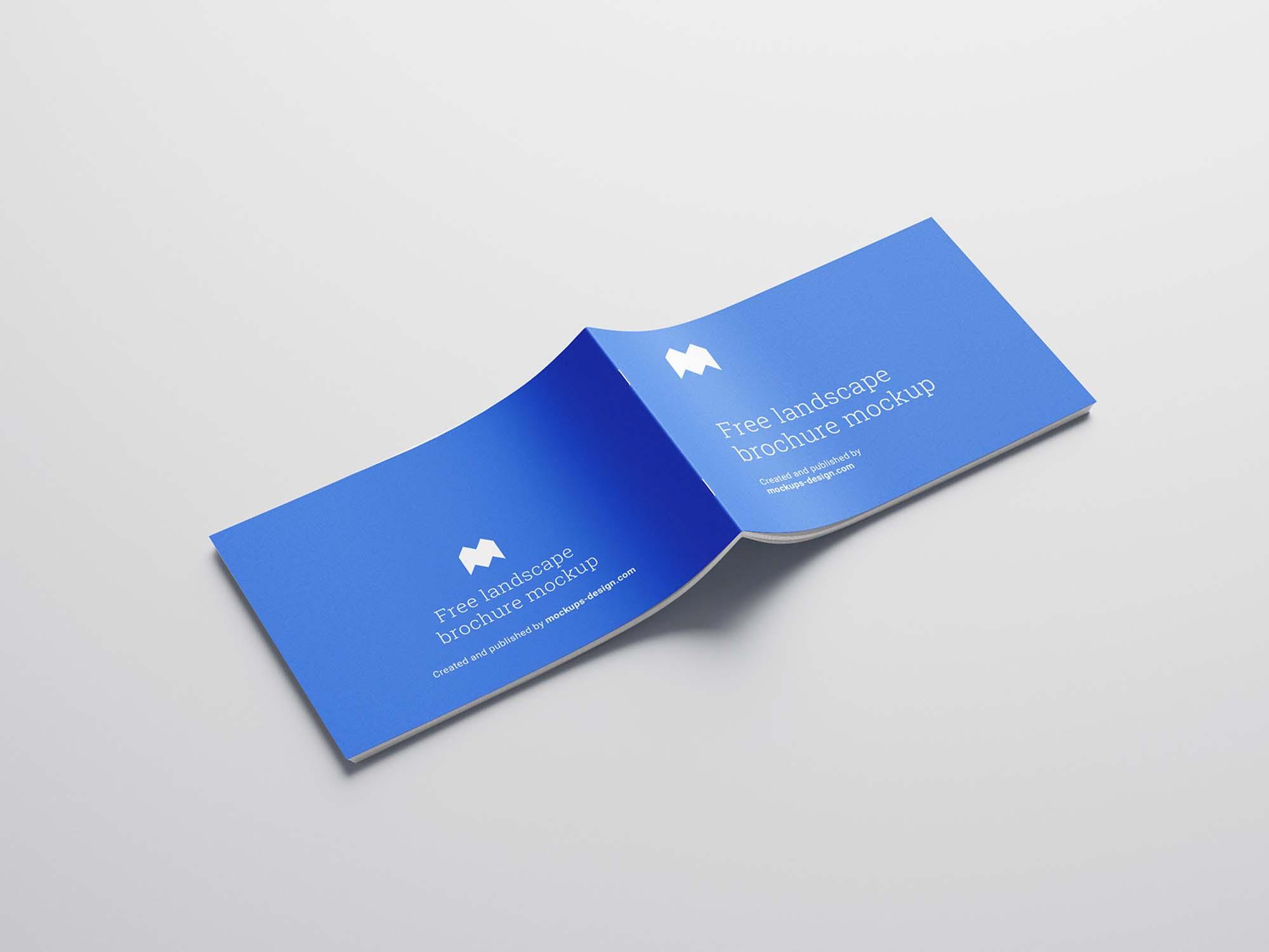Landscape Brochure Mockup Cover