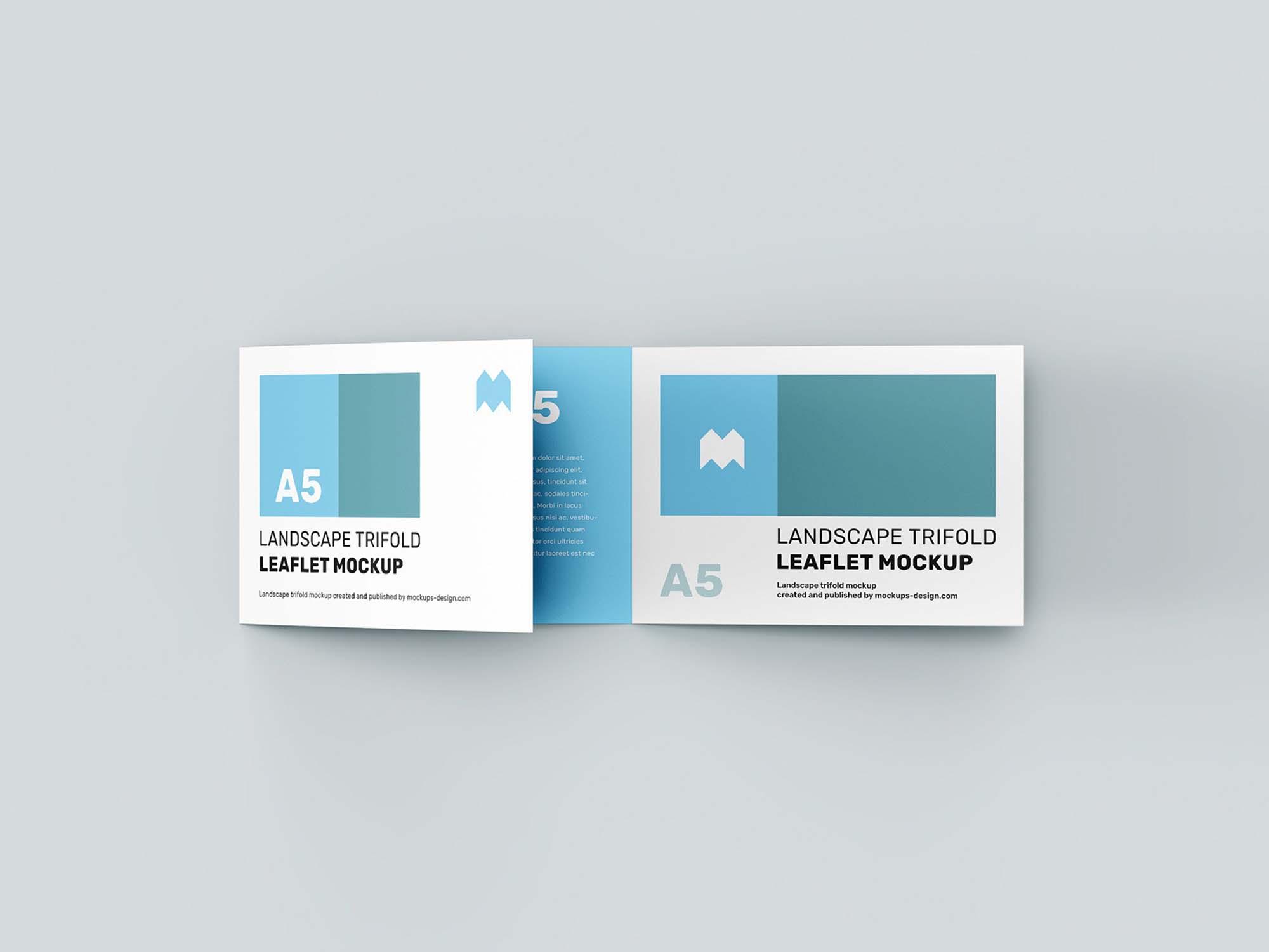 Landscape Trifold Leaflet Mockup 1
