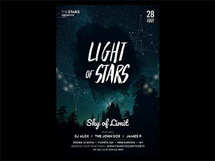 Light of Stars Flyer Template
