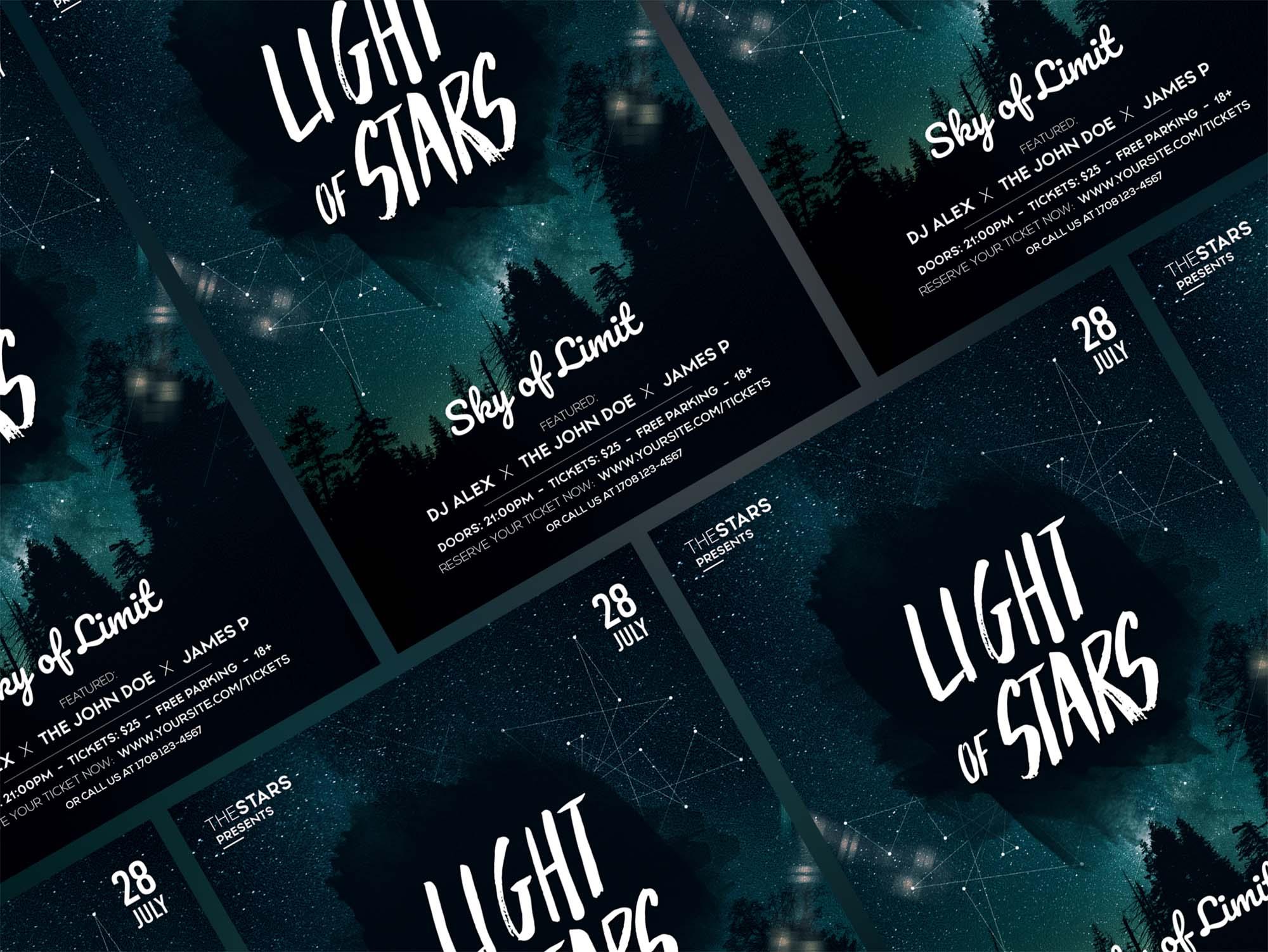 Light of Stars Flyer Template 1