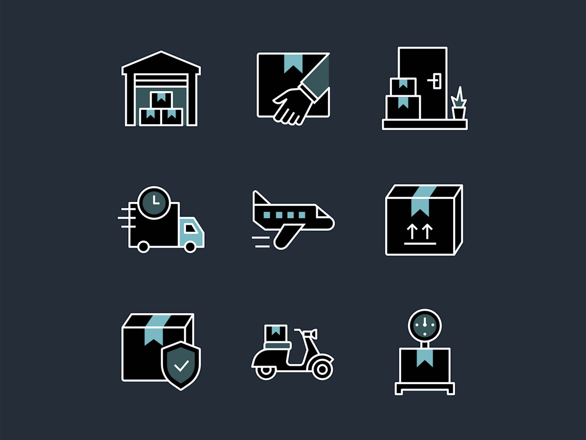 Logistics Delivery Icons 1