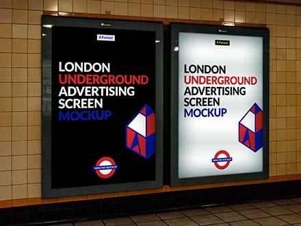 London Underground Ad Screen Mockup