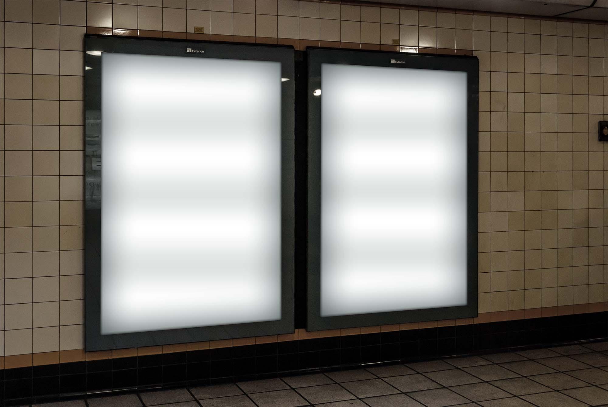 London Underground Ad Screen Mockup 1