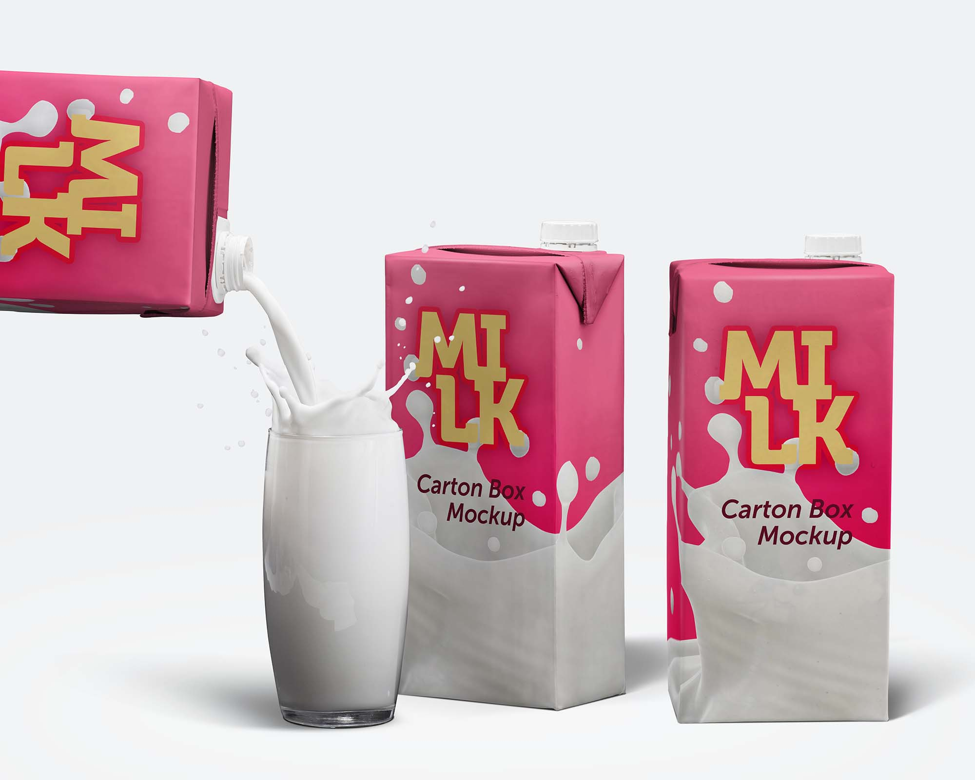 Milk Carton Box Mockup