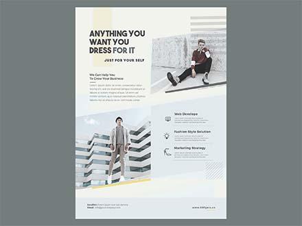 Minimal Fashion Event Flyer Template