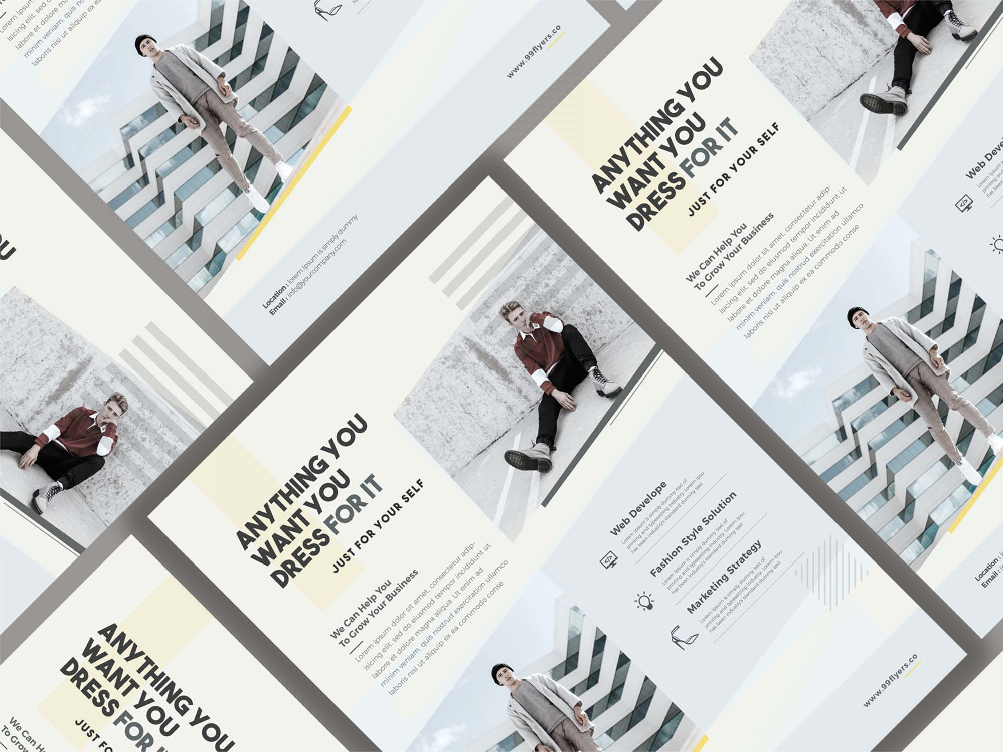 Minimal Fashion Event Flyer Template 1