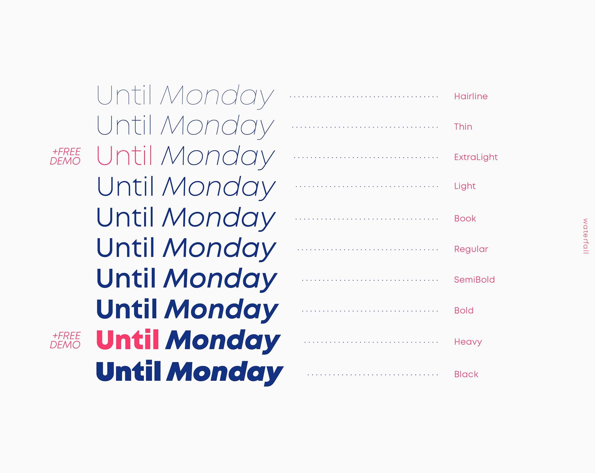 Mont Font Styles