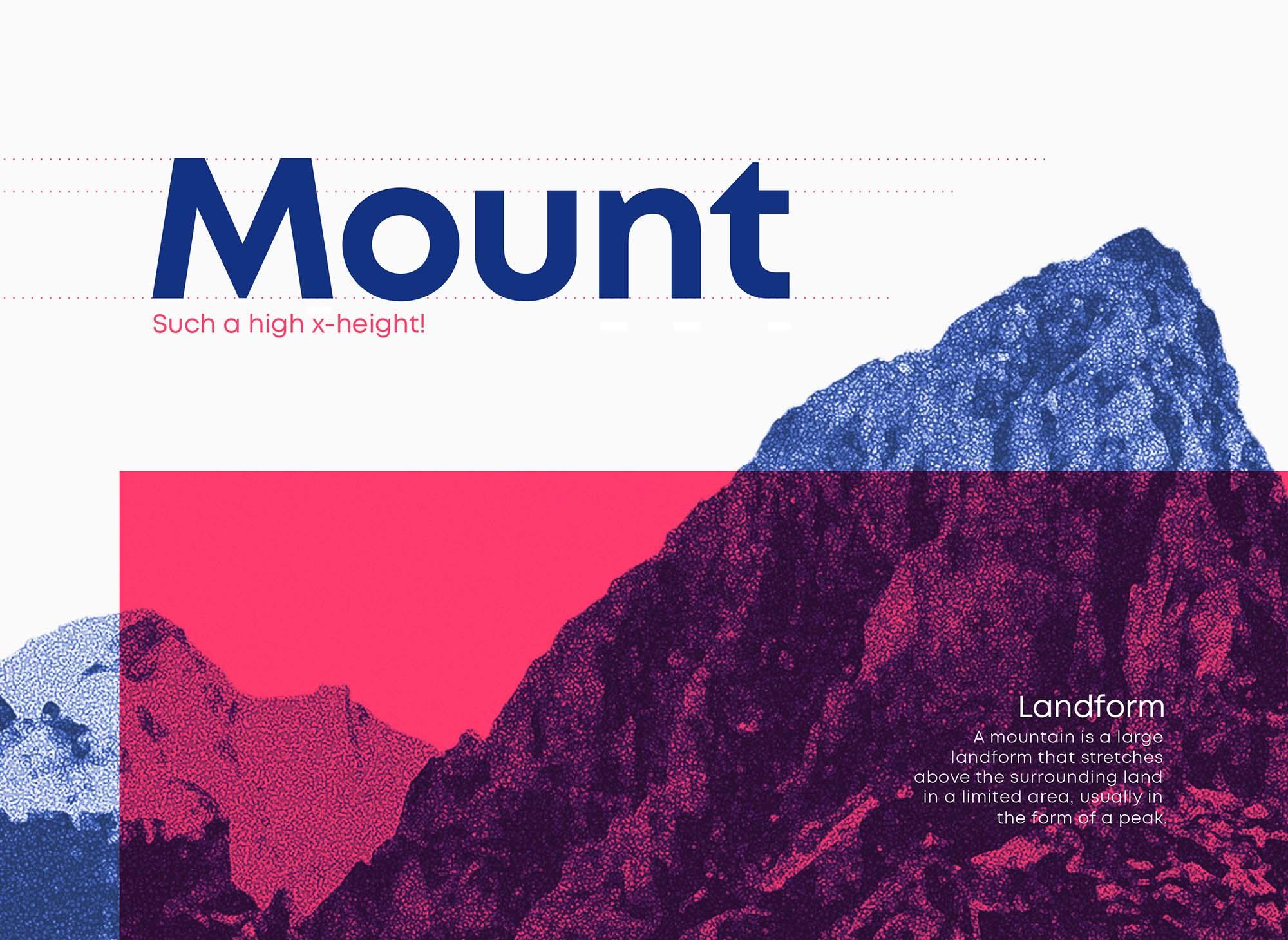 Mont Font Poster