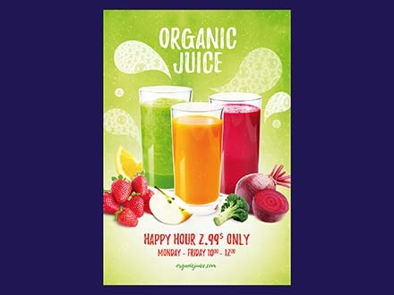 Organic Juice Flyer Template