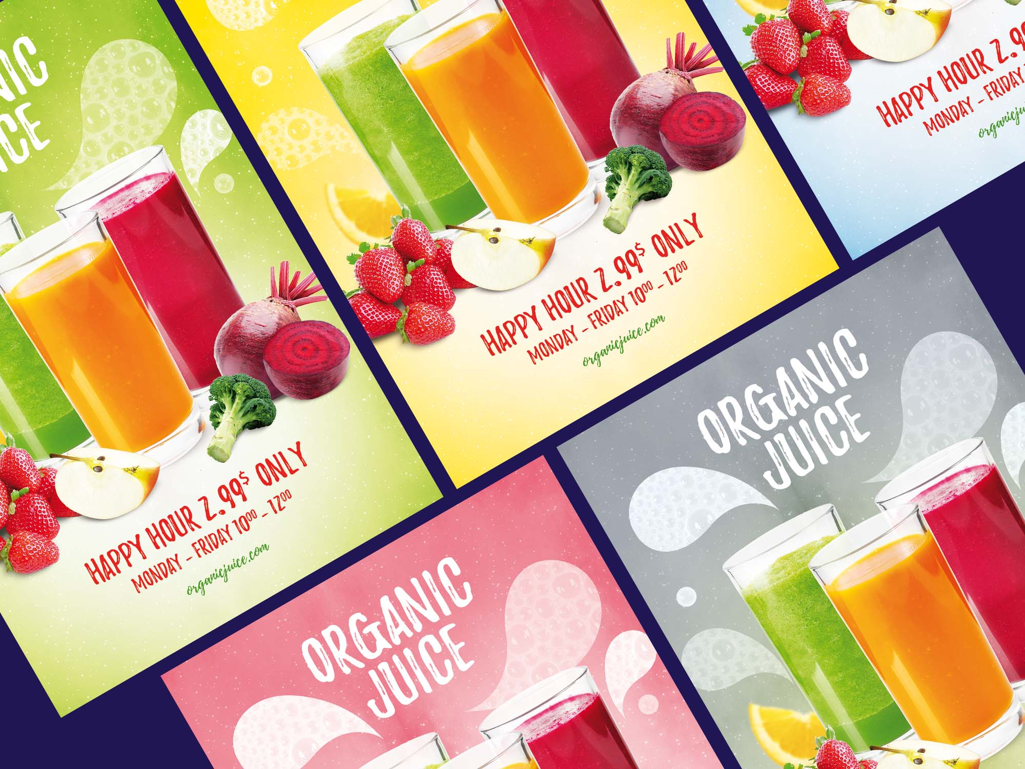 Organic Juice Flyer Templates