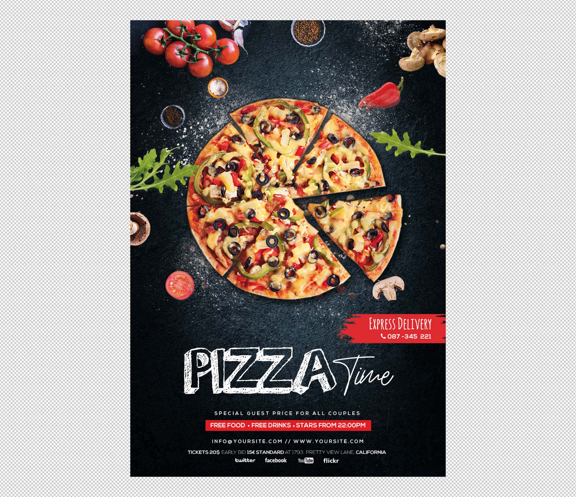 Pizza Restaurant Flyer Template 1