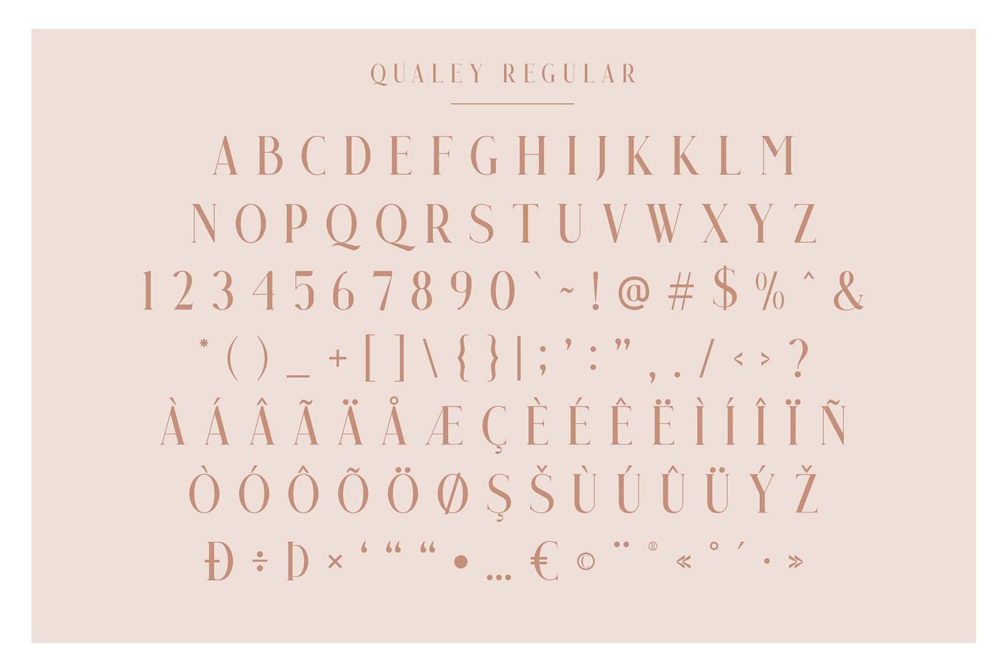 Qualey Serif Font Characters