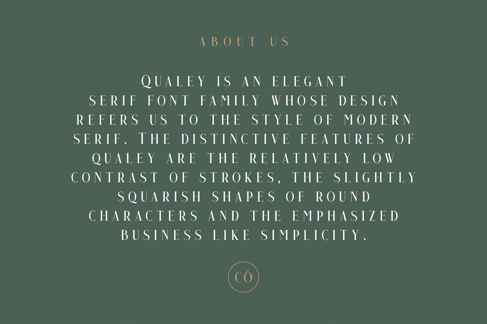 Qualey Serif Font Text