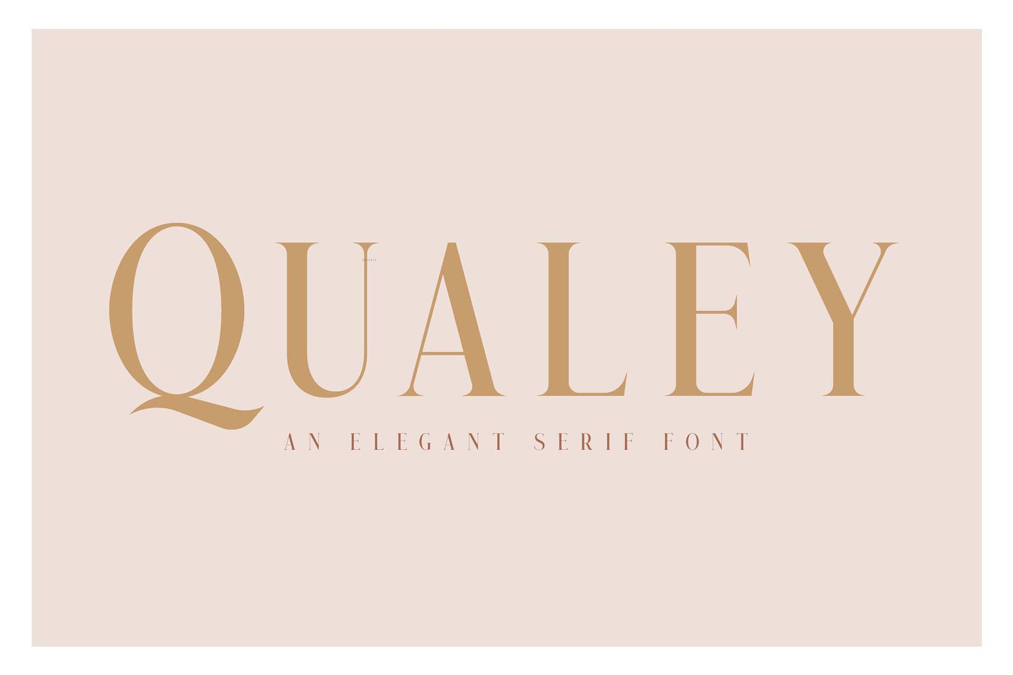 Qualey Serif Font