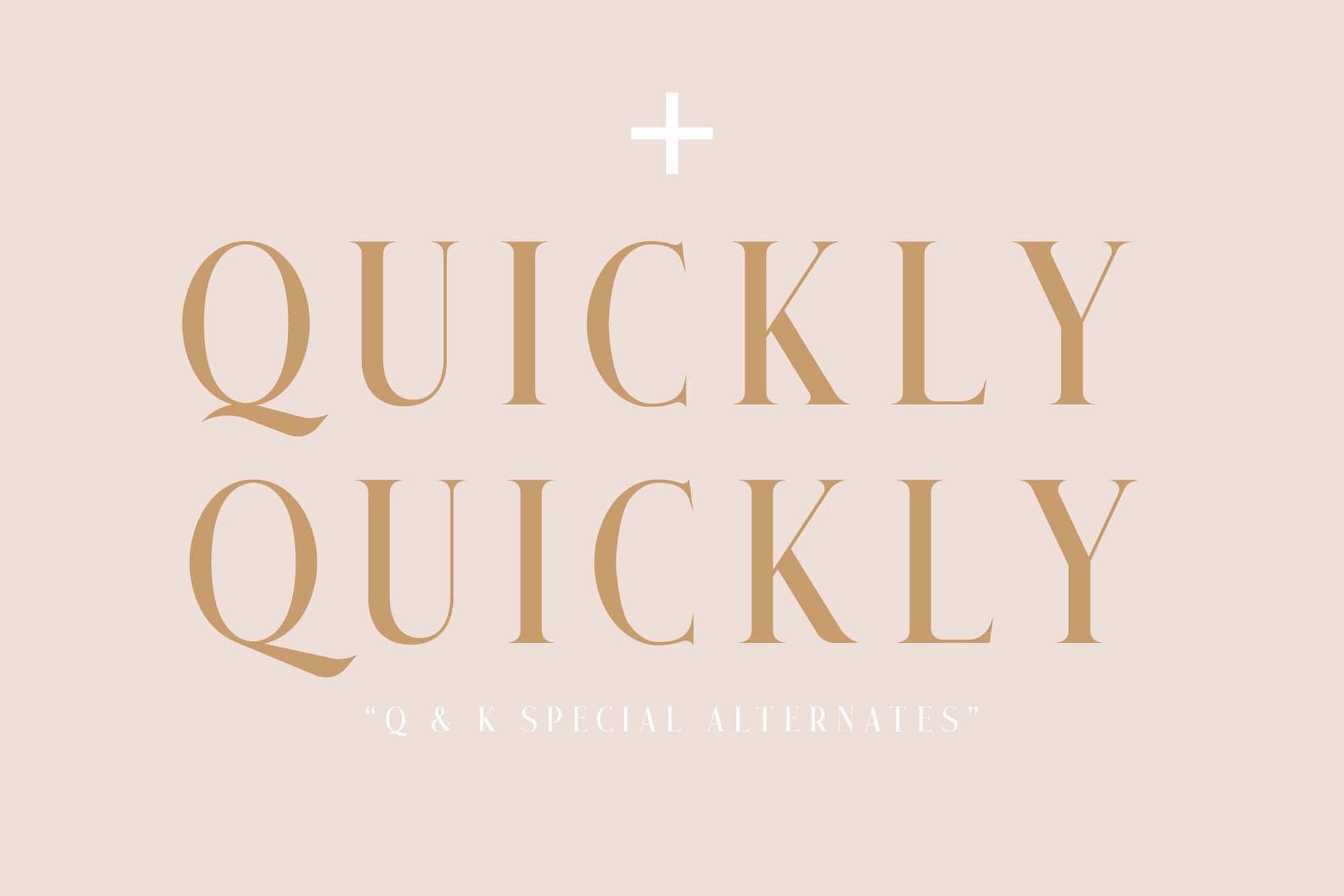 Qualey Serif Font 4
