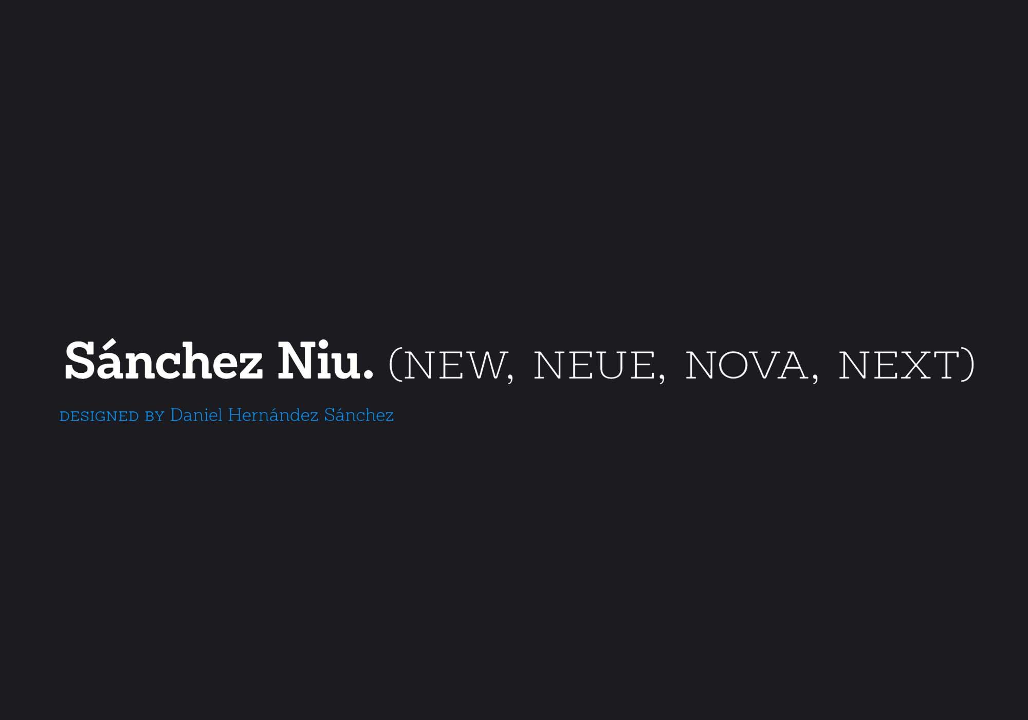 Sánchez Niu Font