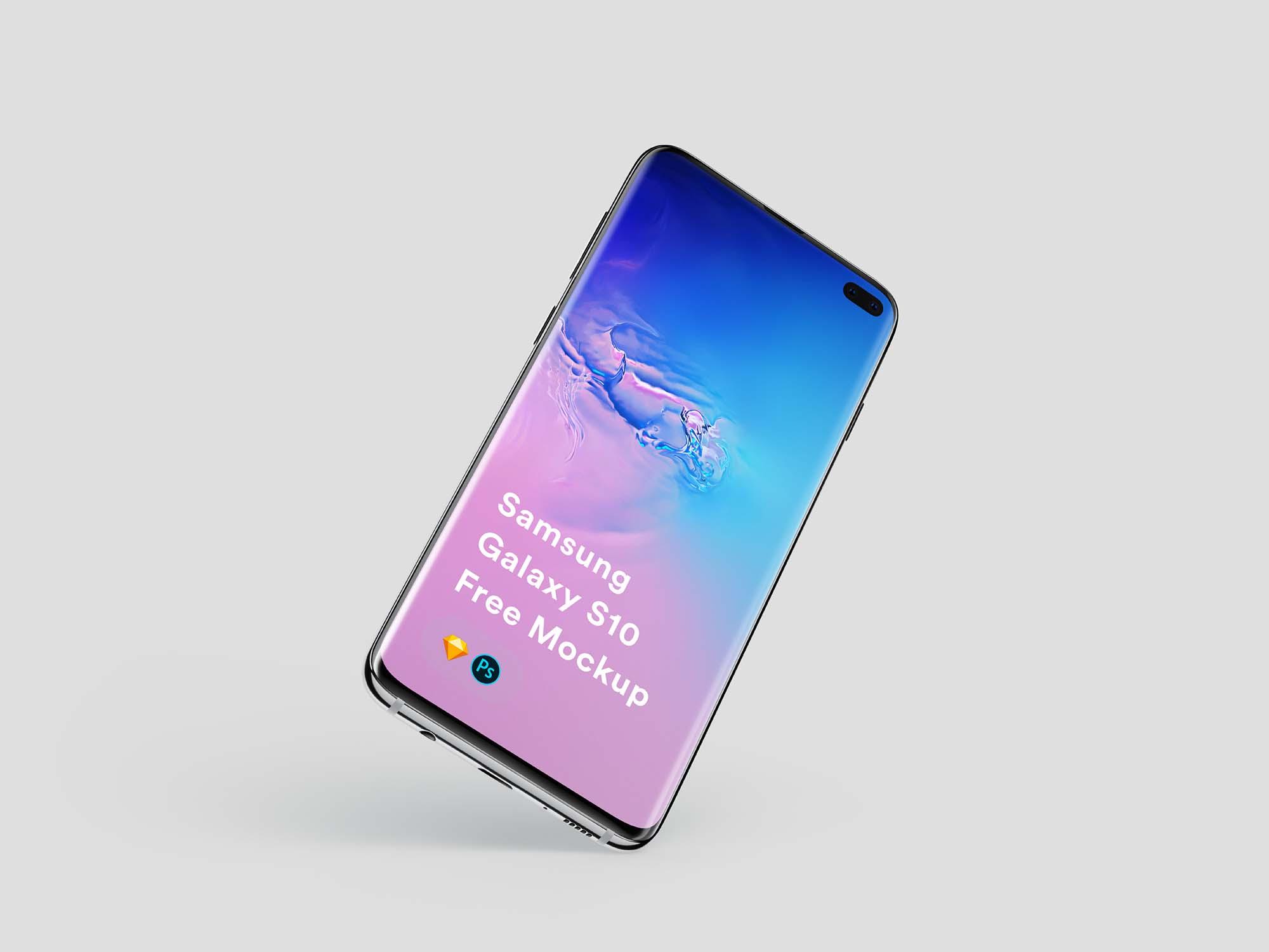 Samsung Galaxy S10+ Mockup 1
