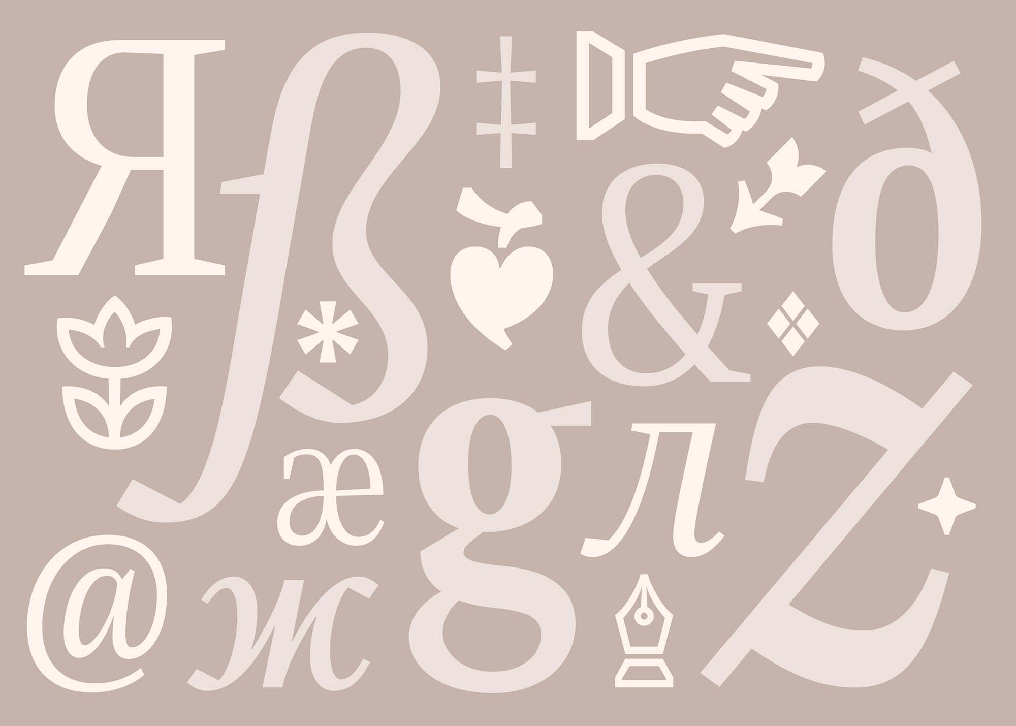 Singel Serif Font Multilingual