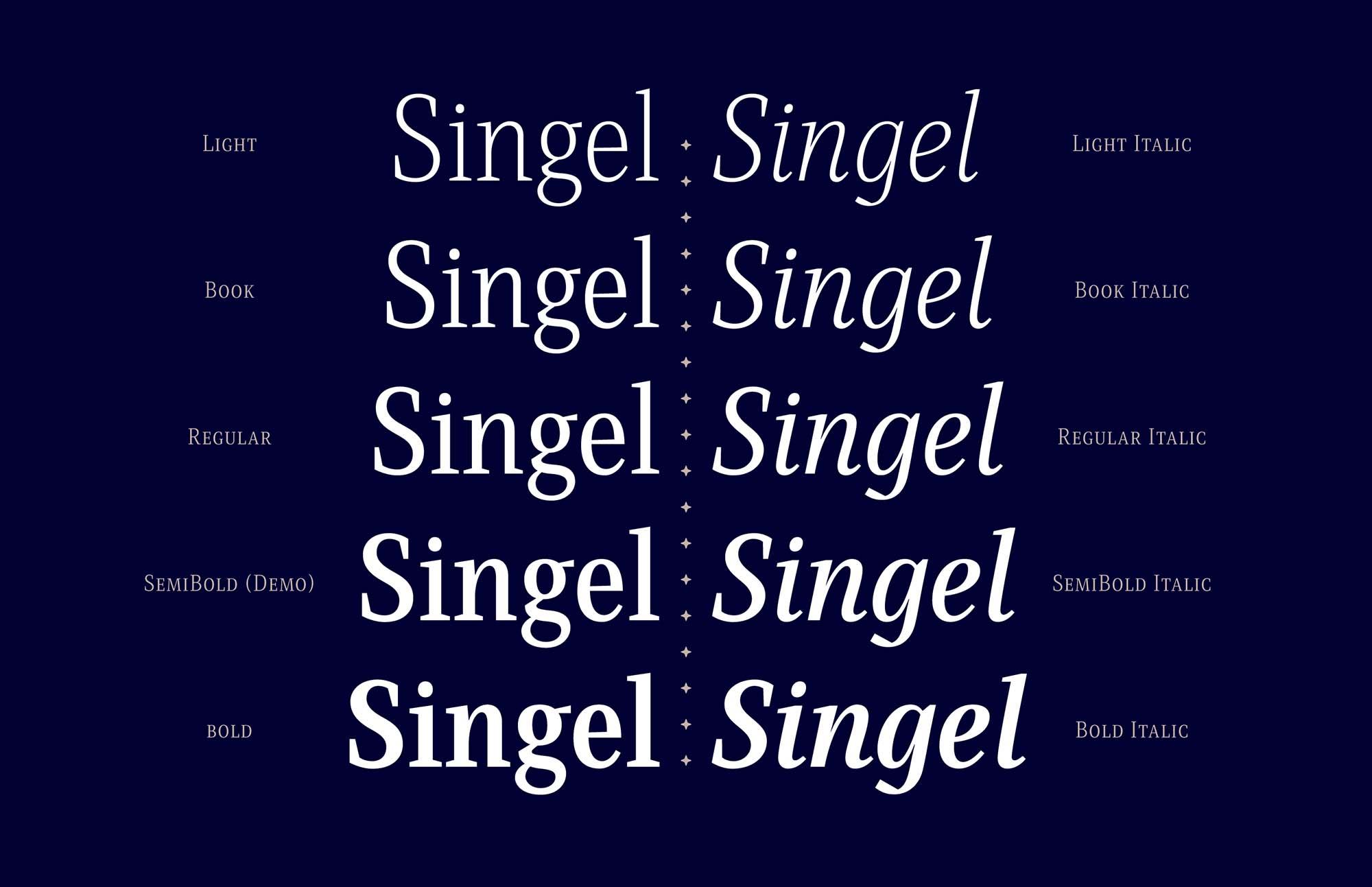 Singel Serif Font Weights