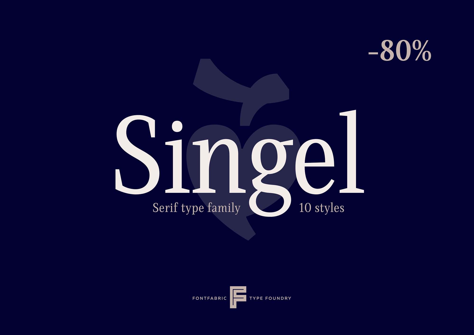 Singel Serif Font