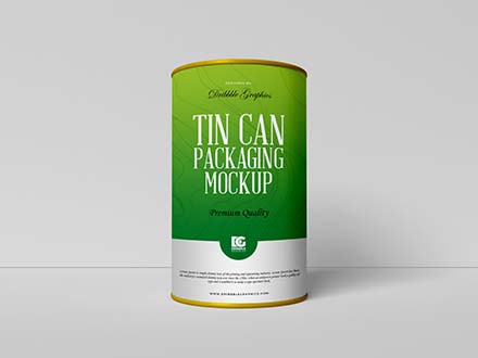 Tall Tin Can Mockup