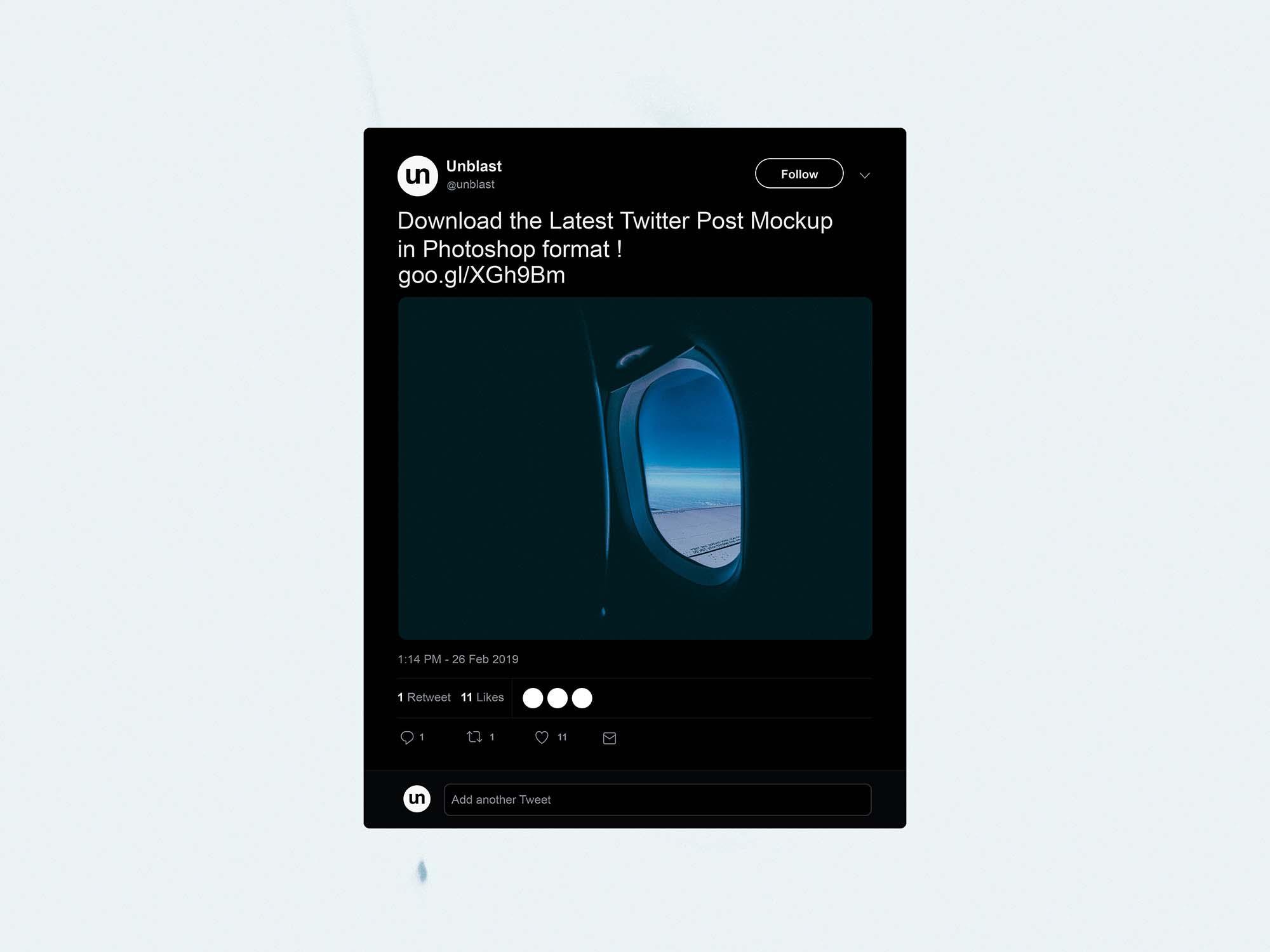 Twitter Post Mockup 2