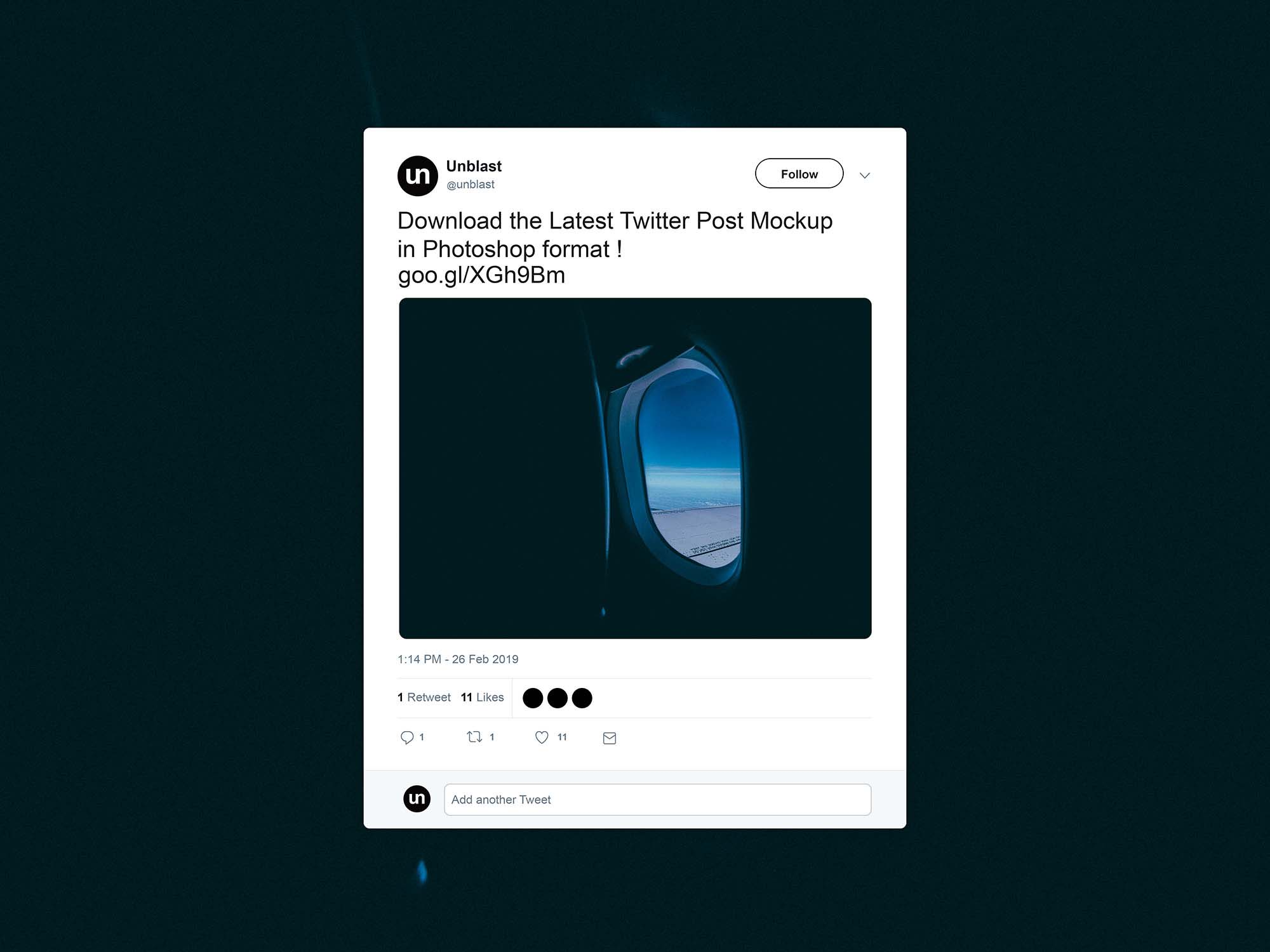 Free Twitter Post Mockup (2019)