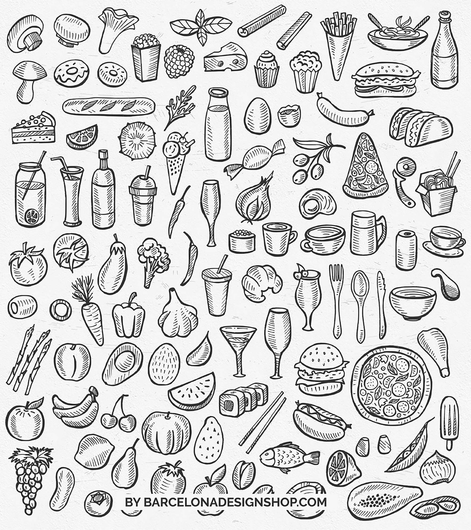 Vector Food Illustrations 1