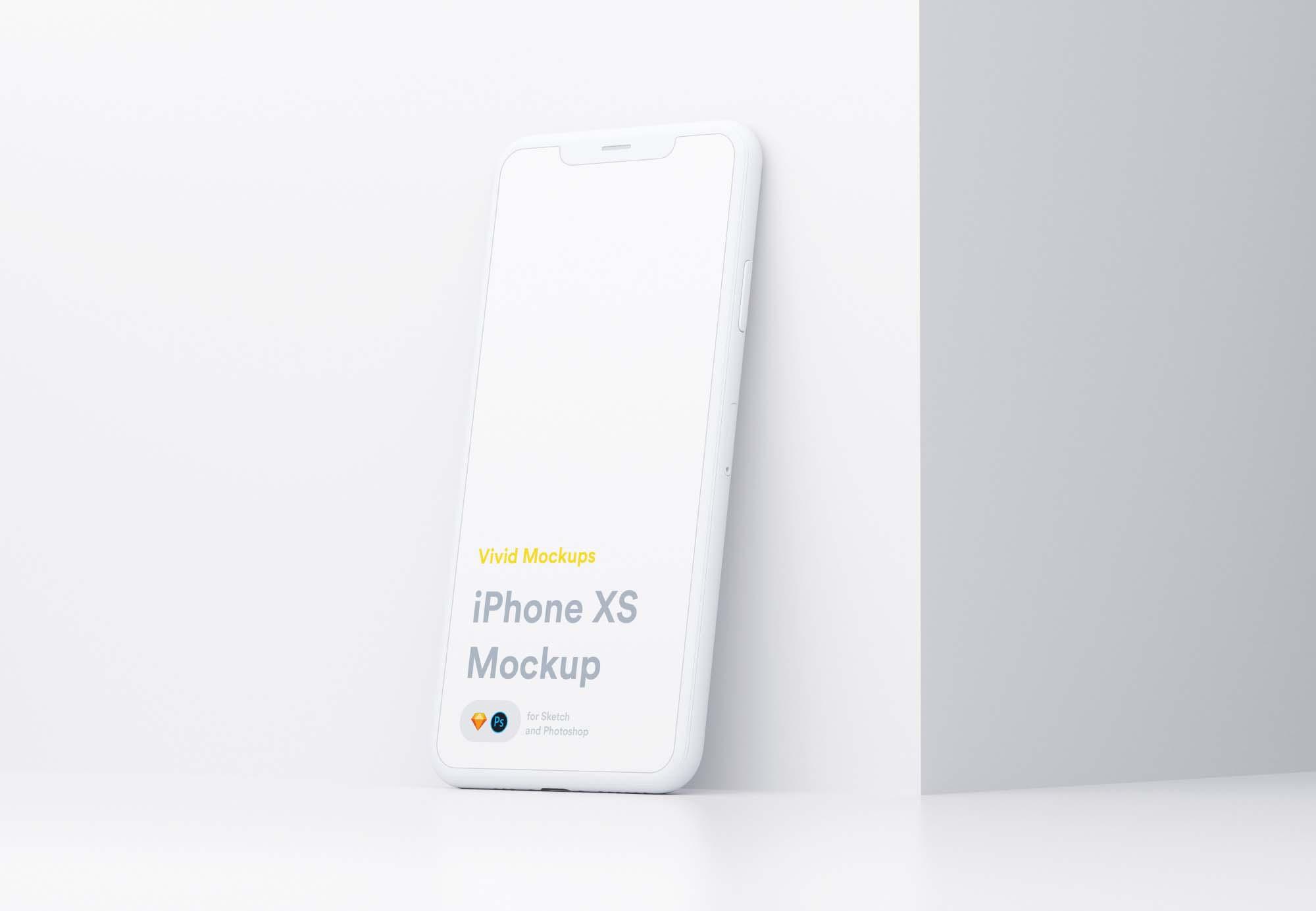 Vivid iPhone X Mockup 2