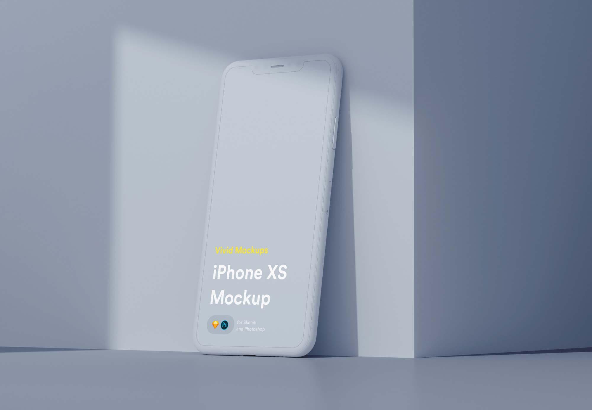 Vivid iPhone X Mockup