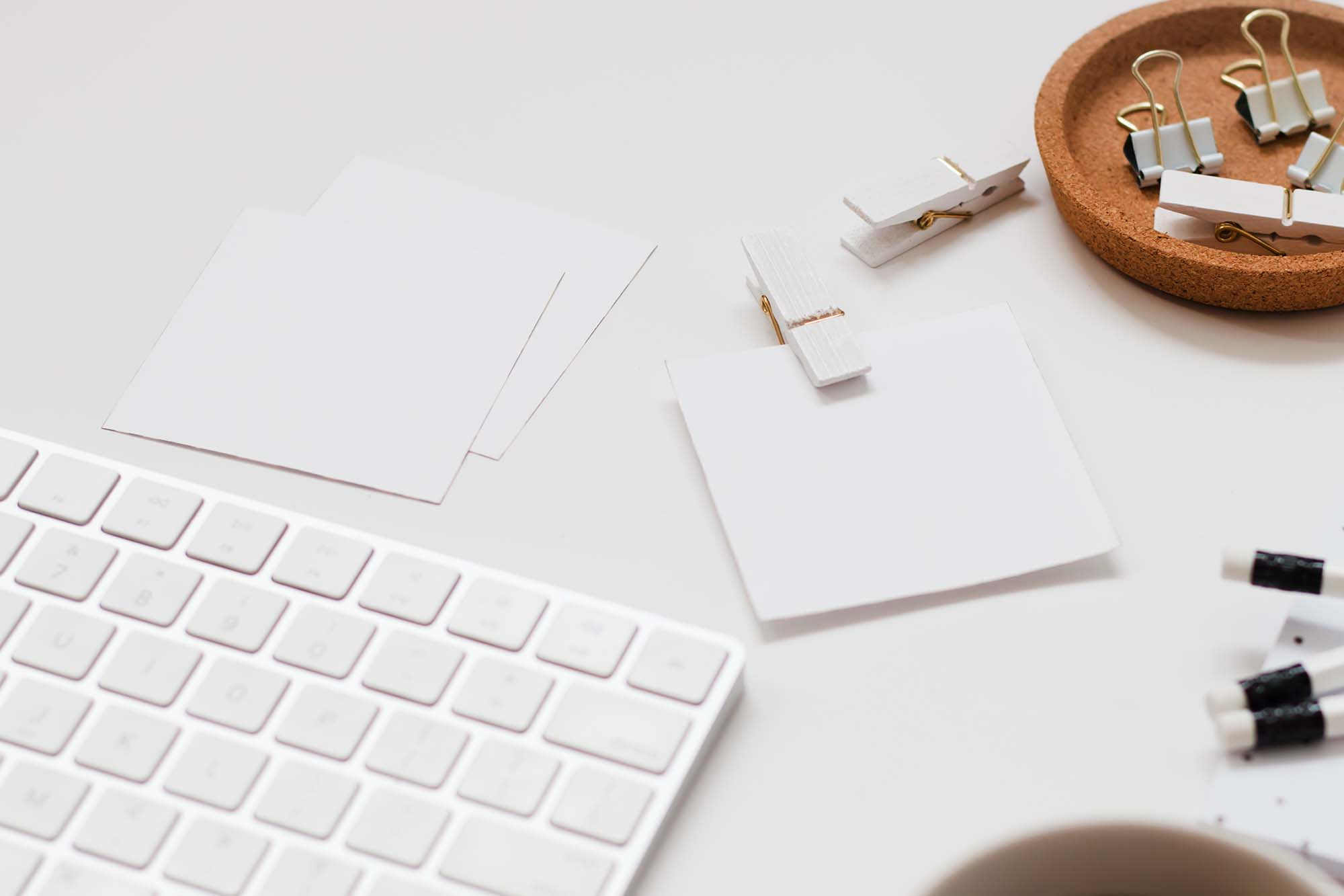 White Desk Mockup 1