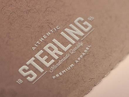 White Embossed Logo Mockup