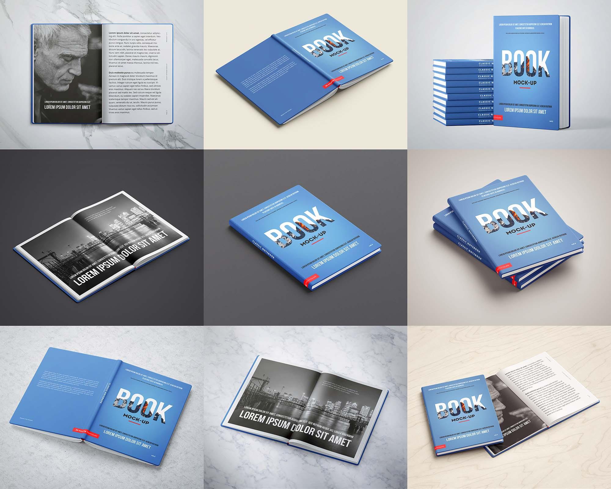 Hardcover Sketchbook Mockup 1