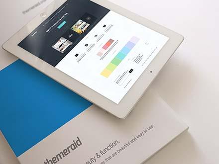 Notepad and Magazine Mockup