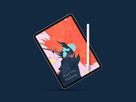 iPad Pro with Pencil Mockup