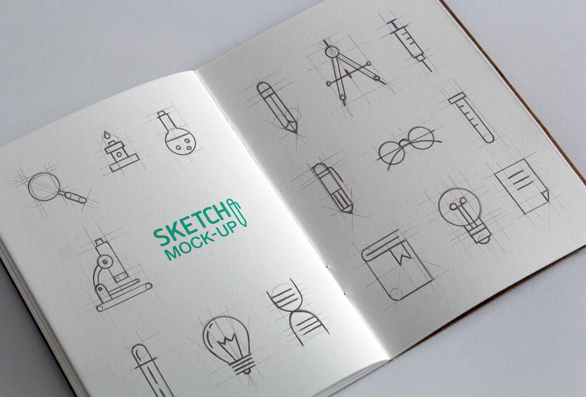 Sketchbook Mockup 2