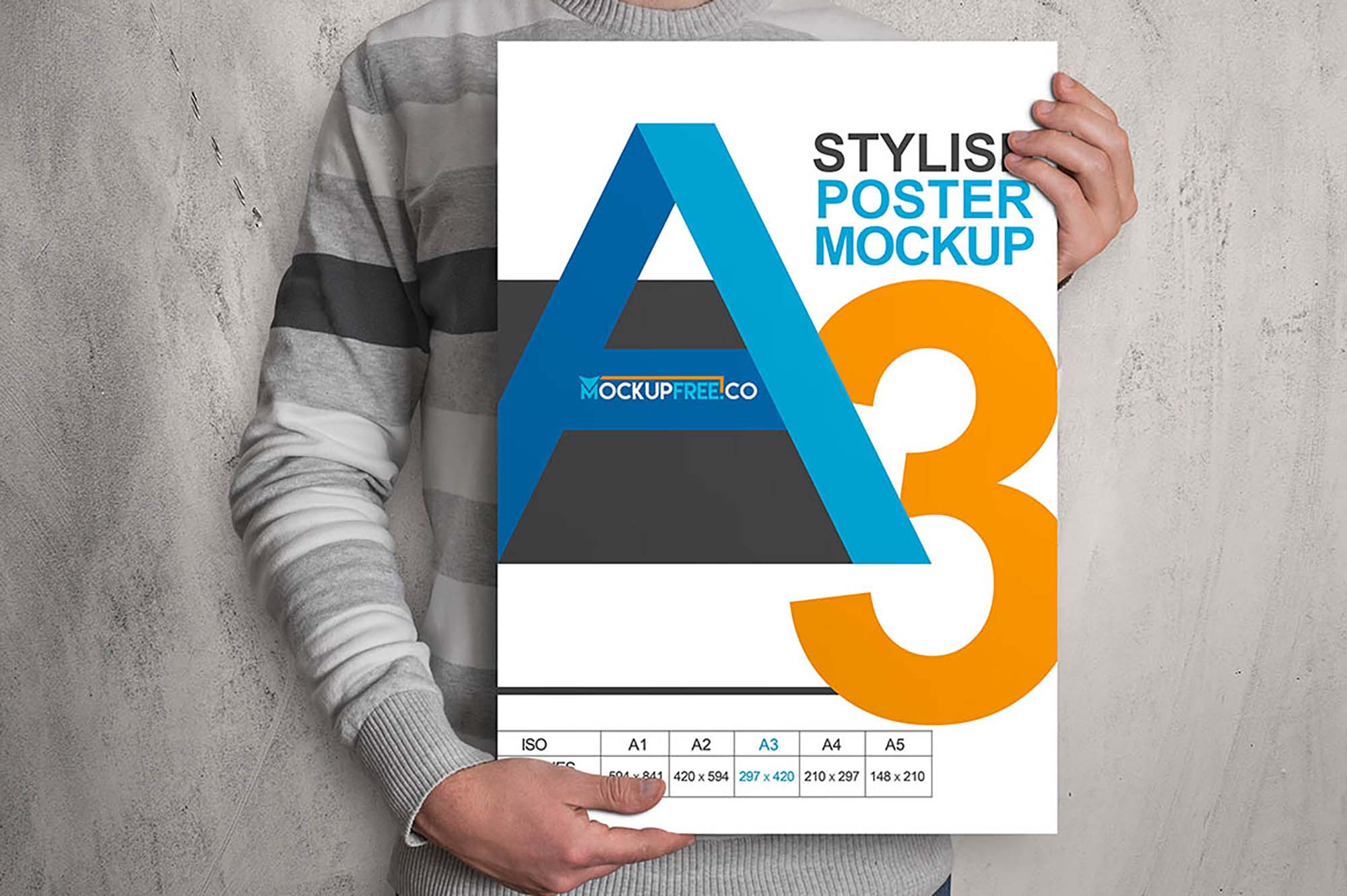 A3 Poster in Hands Mockup