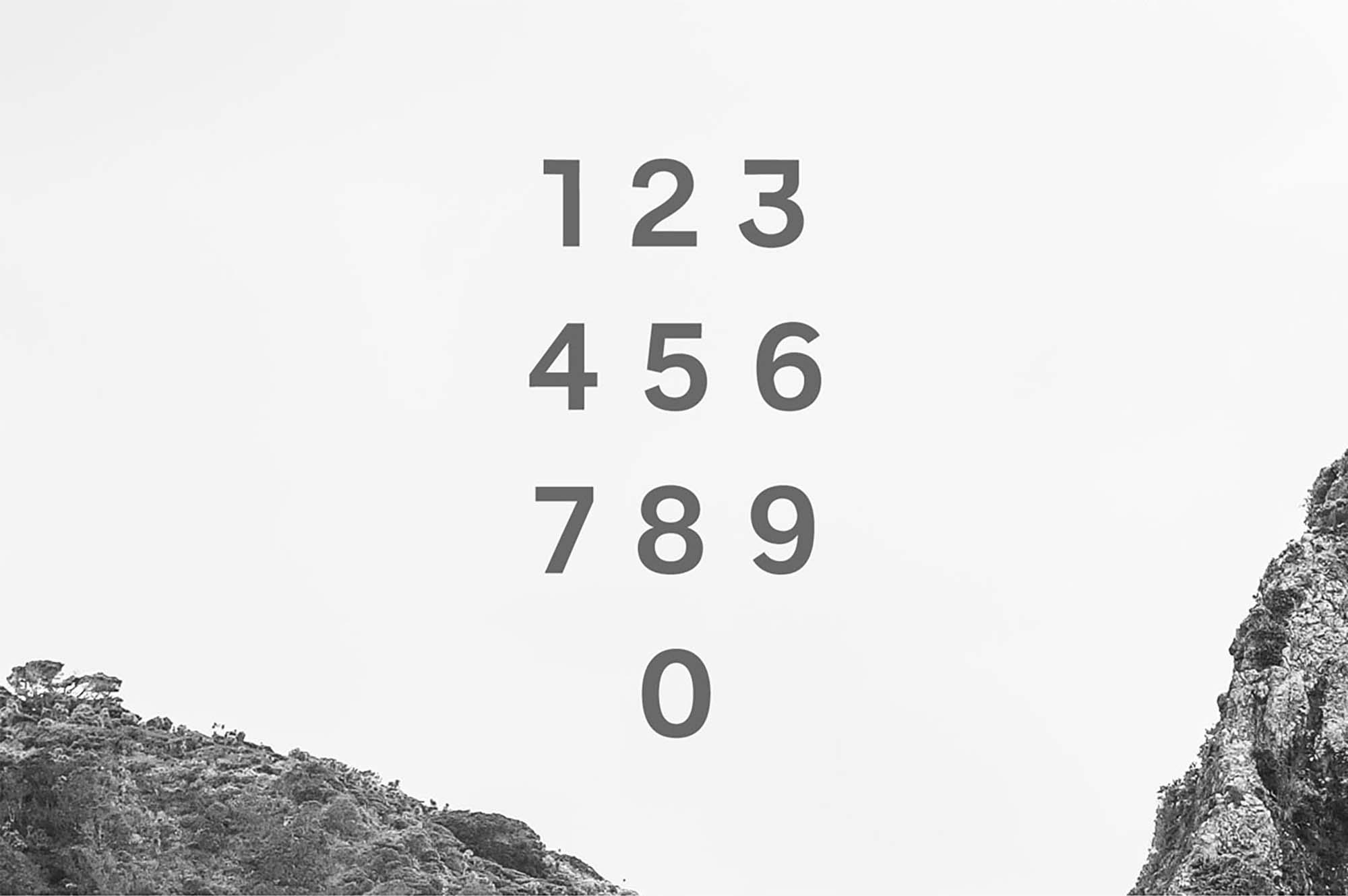 Benett Sans Serif Font Numbers