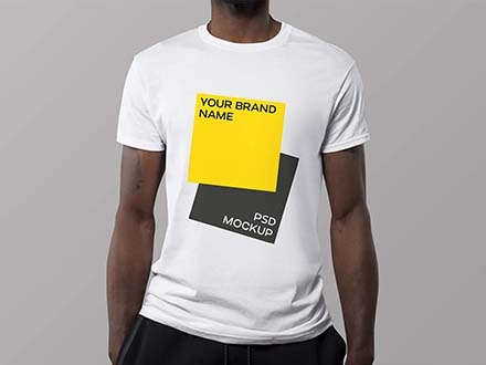 Black Man T-Shirt Mockup