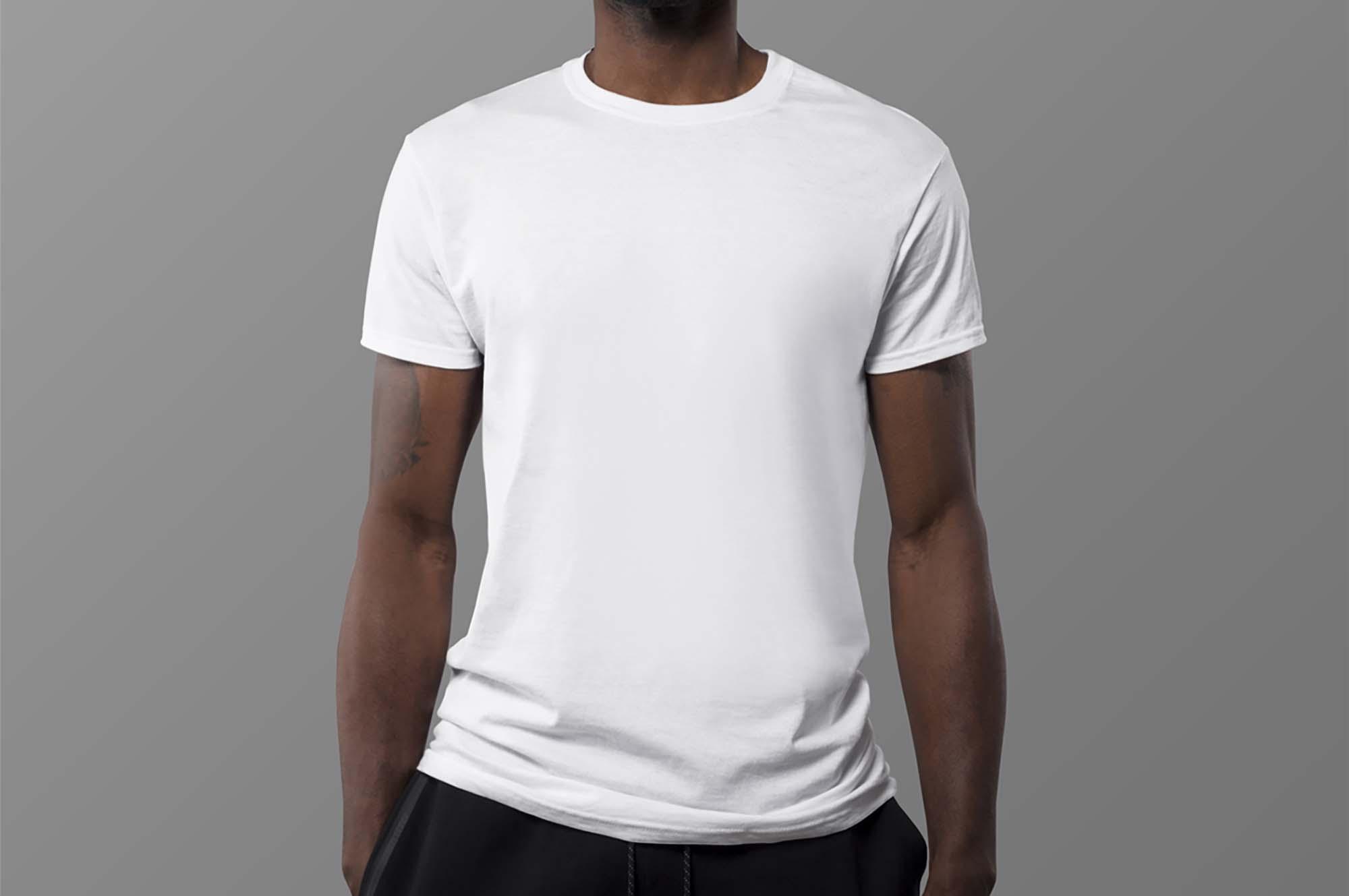 Black Man T-Shirt Mockup 2