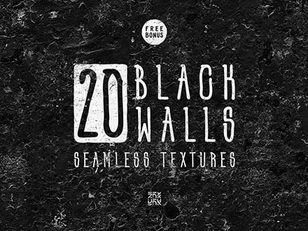 Black Wall Seamless Textures