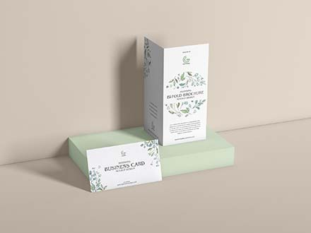 Brochure and Business Card Mockup