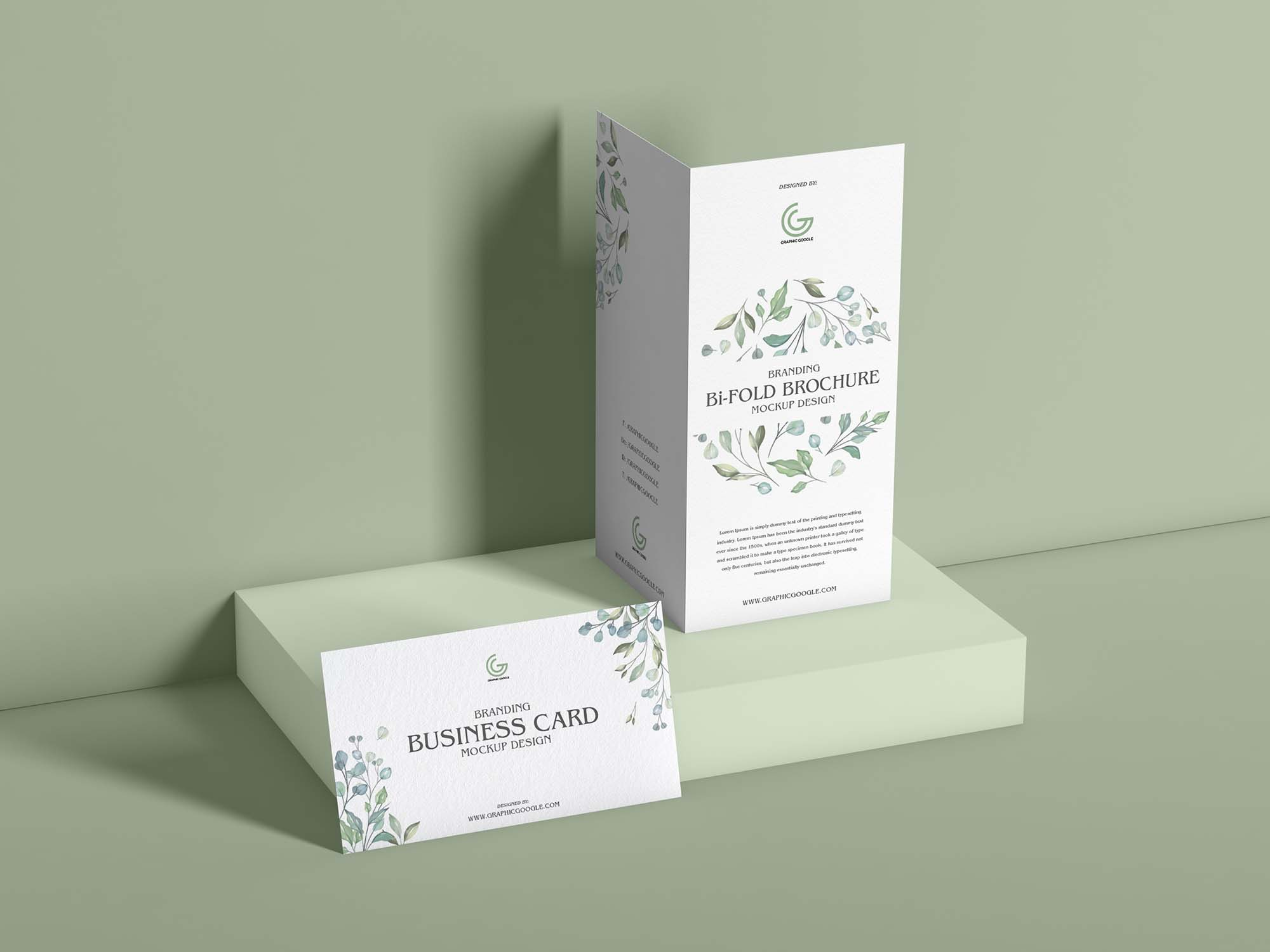 Brochure and Business Card Mockup 2