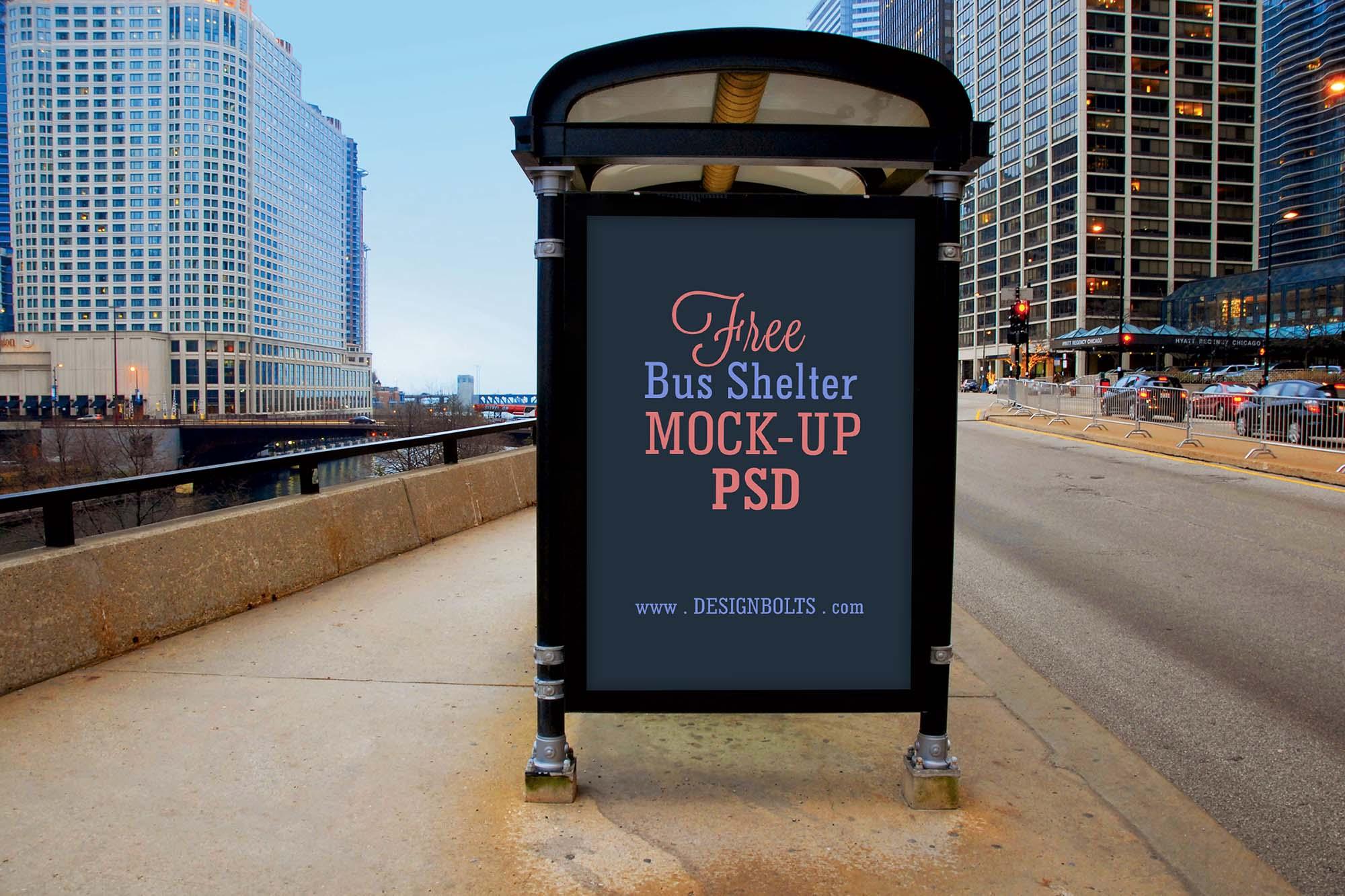 Bus Shelter Advertising Mockup 2