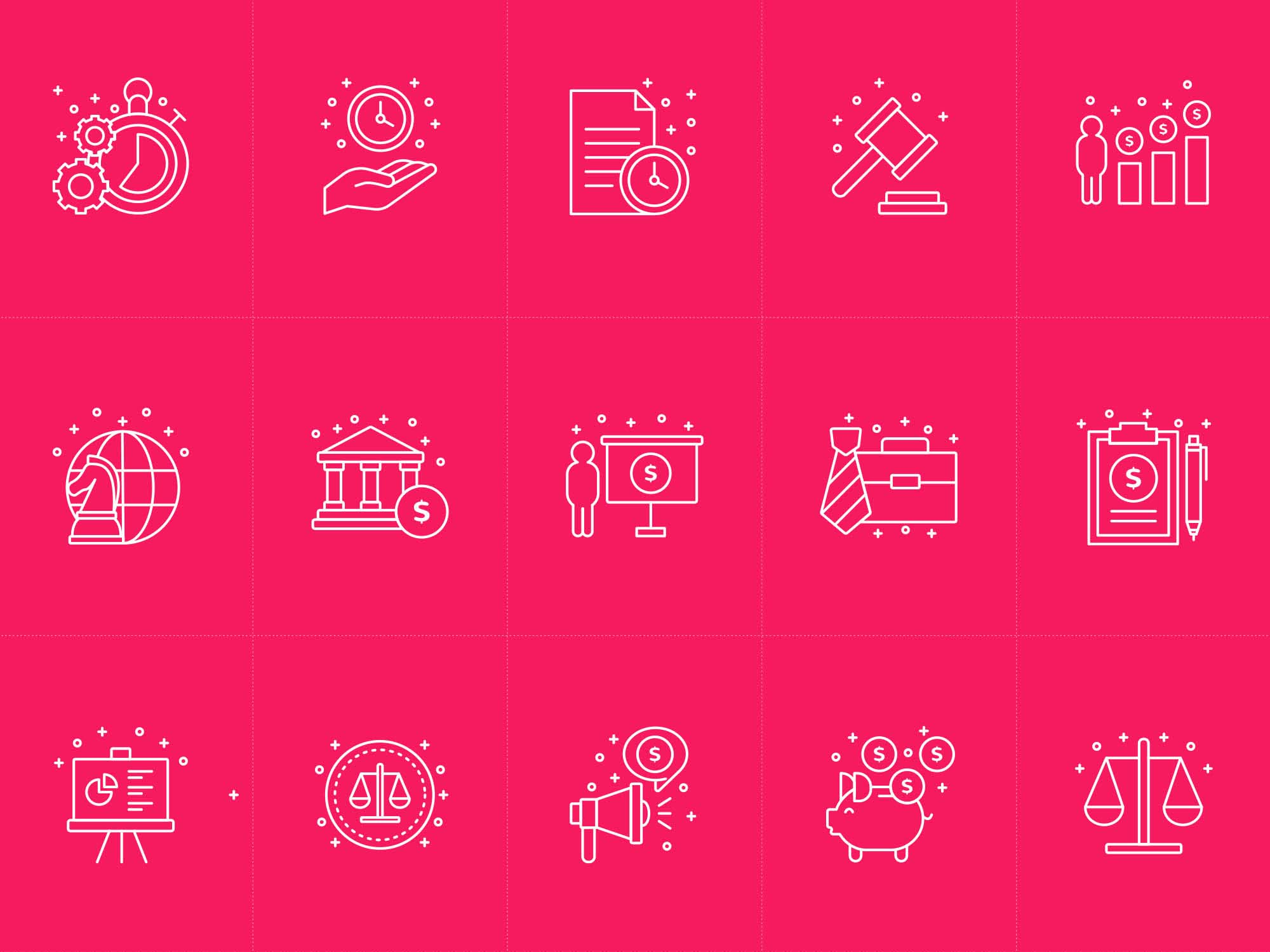Business Vector Icons AI