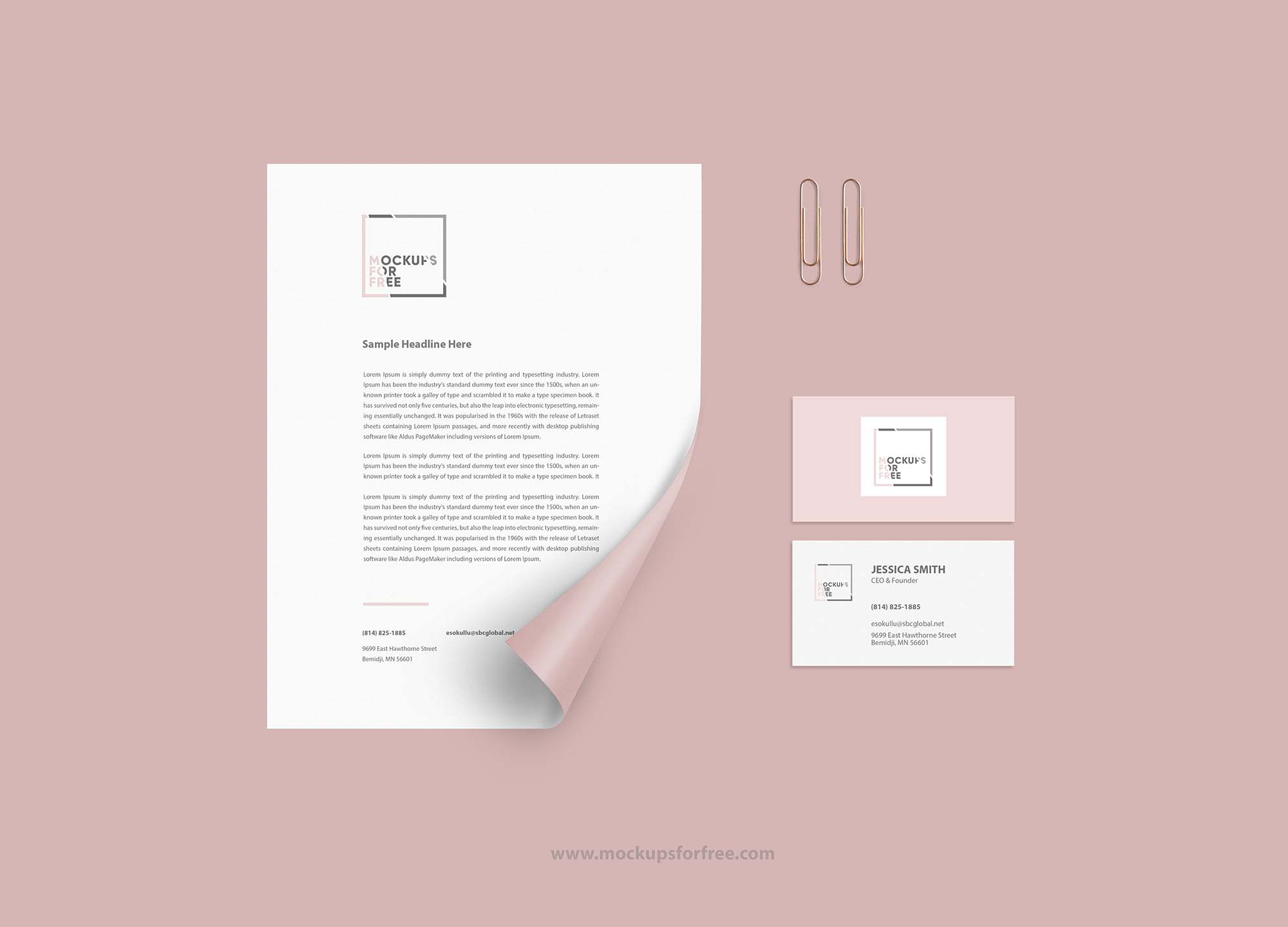 Corporate Identity Paper Mockup
