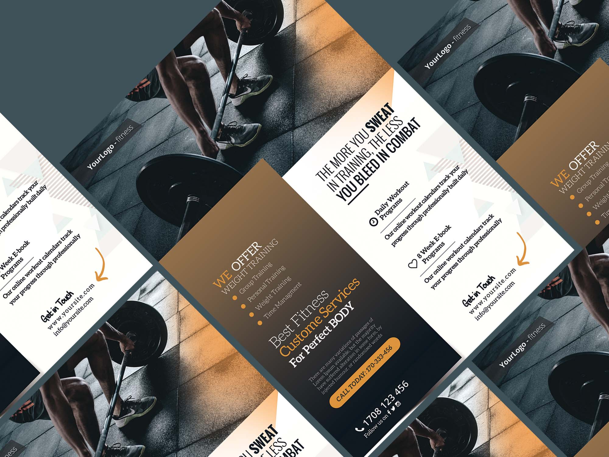 Fitness and Gym Flyer Template 2