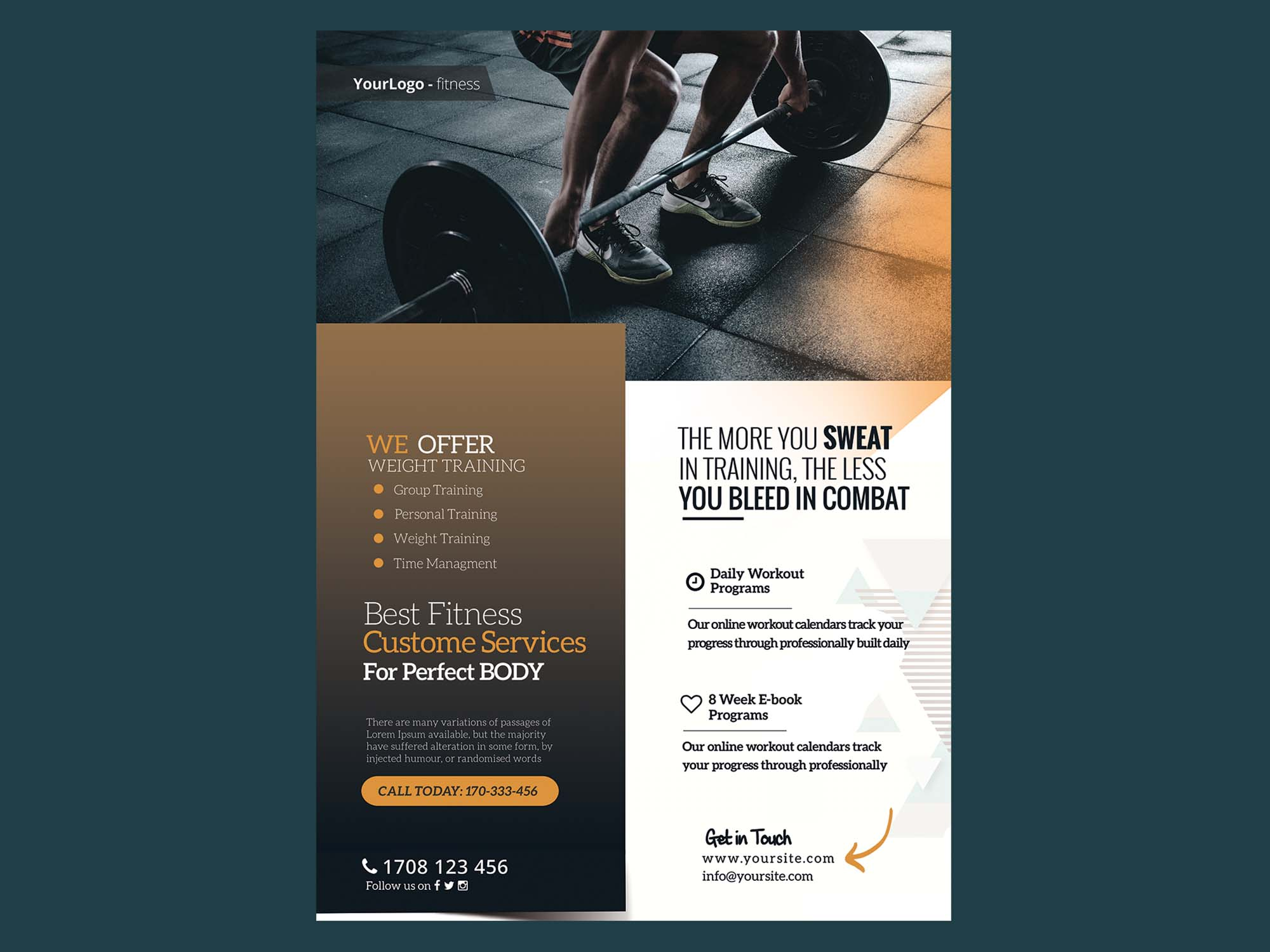 Fitness and Gym Flyer Template