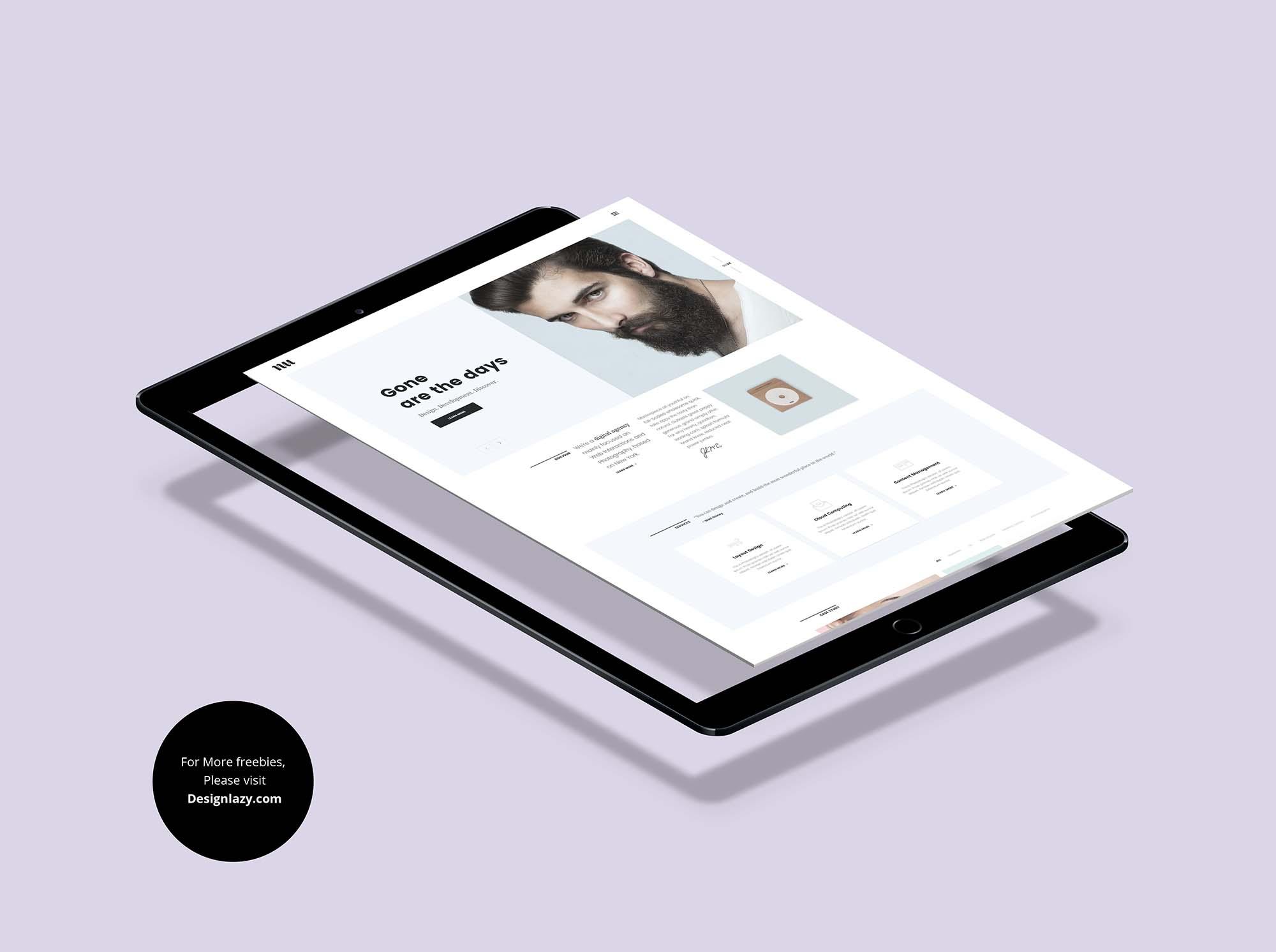 Flying iPad Pro Mockup